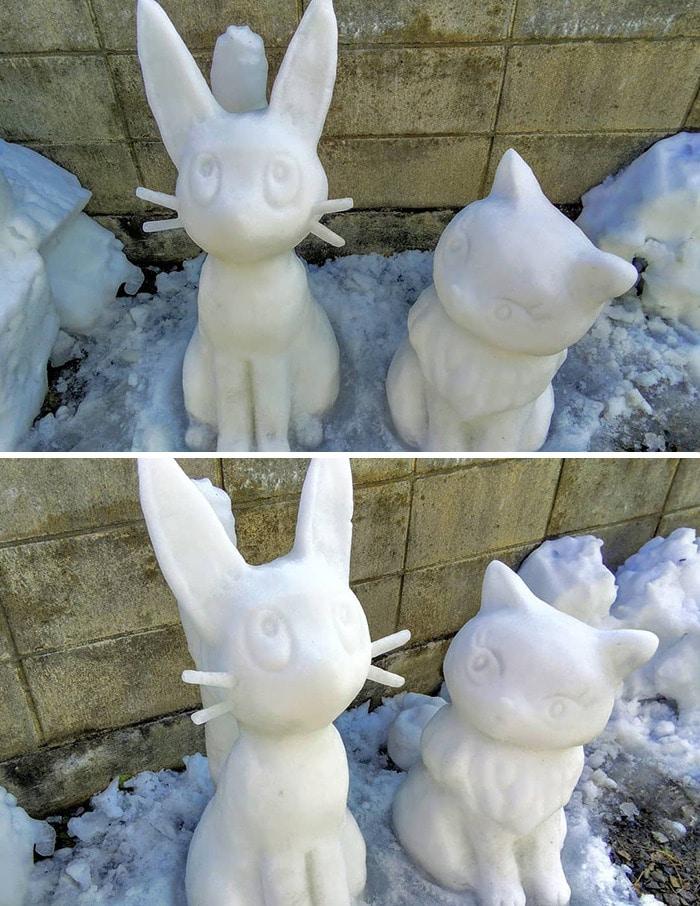 Usuário do Twitter cria esculturas de neve fascinantes e aqui estão 30 das mais legais 13