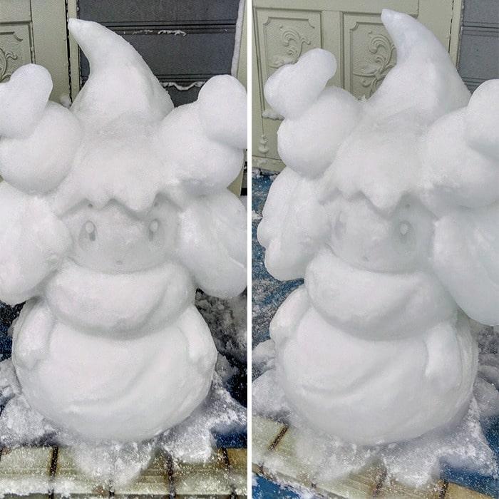 Usuário do Twitter cria esculturas de neve fascinantes e aqui estão 30 das mais legais 15