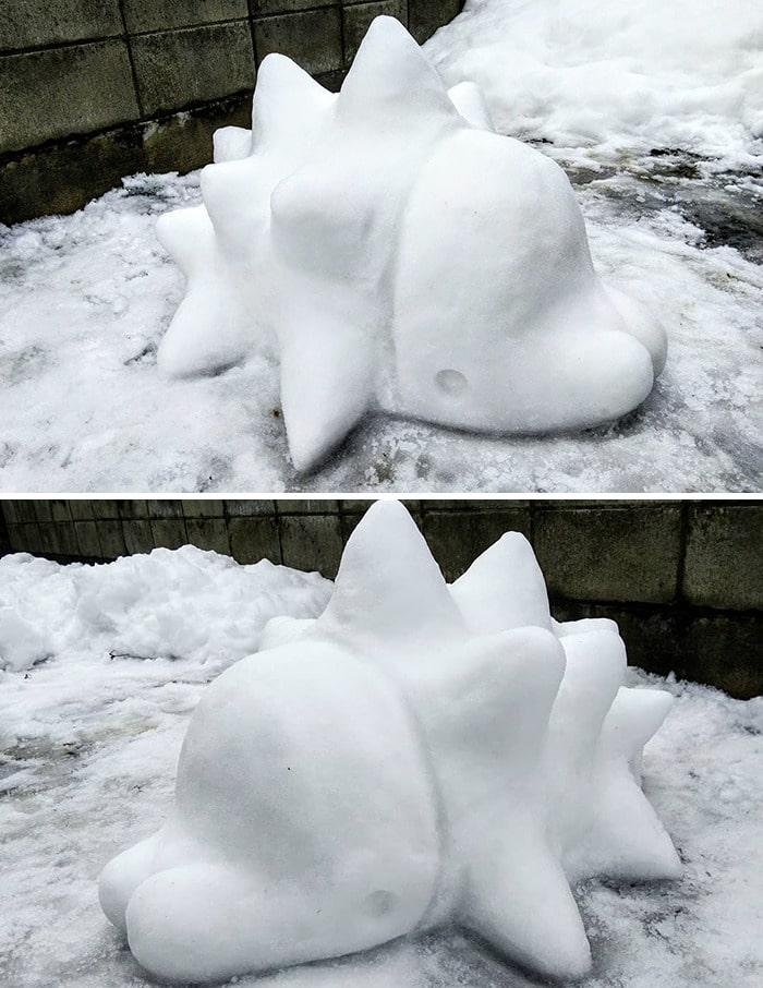 Usuário do Twitter cria esculturas de neve fascinantes e aqui estão 30 das mais legais 18