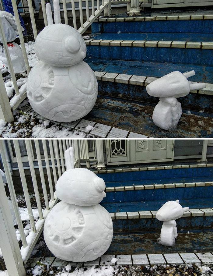 Usuário do Twitter cria esculturas de neve fascinantes e aqui estão 30 das mais legais 20
