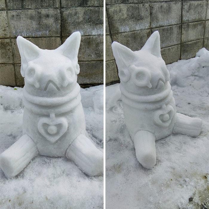 Usuário do Twitter cria esculturas de neve fascinantes e aqui estão 30 das mais legais 21
