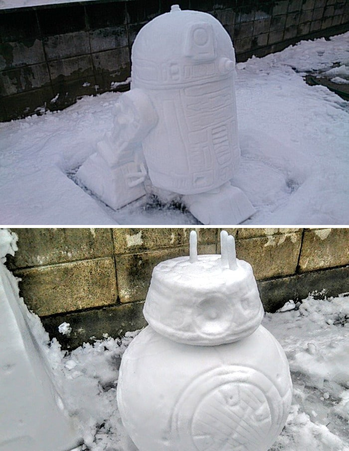 Usuário do Twitter cria esculturas de neve fascinantes e aqui estão 30 das mais legais 22