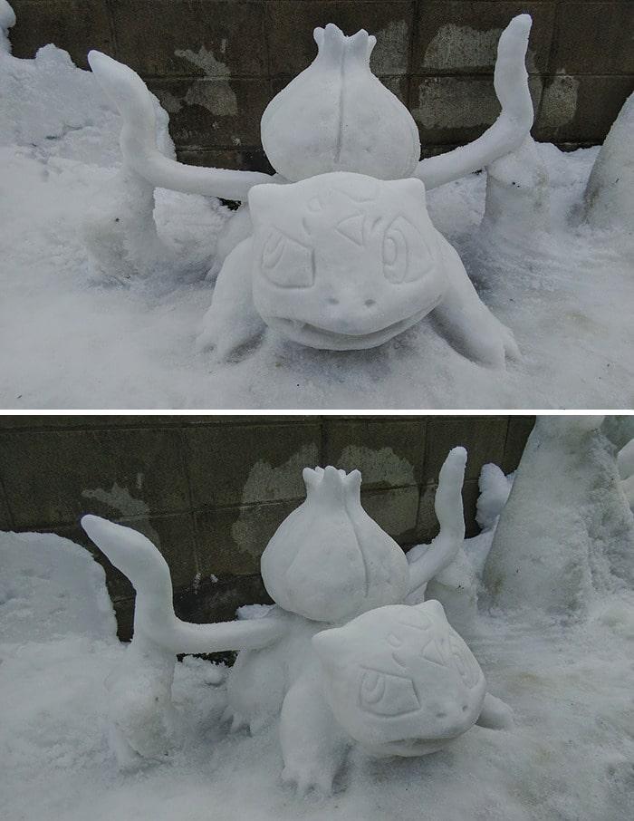 Usuário do Twitter cria esculturas de neve fascinantes e aqui estão 30 das mais legais 23