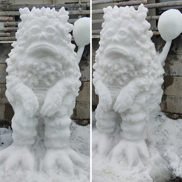 Usuário do Twitter cria esculturas de neve fascinantes e aqui estão 30 das mais legais 24