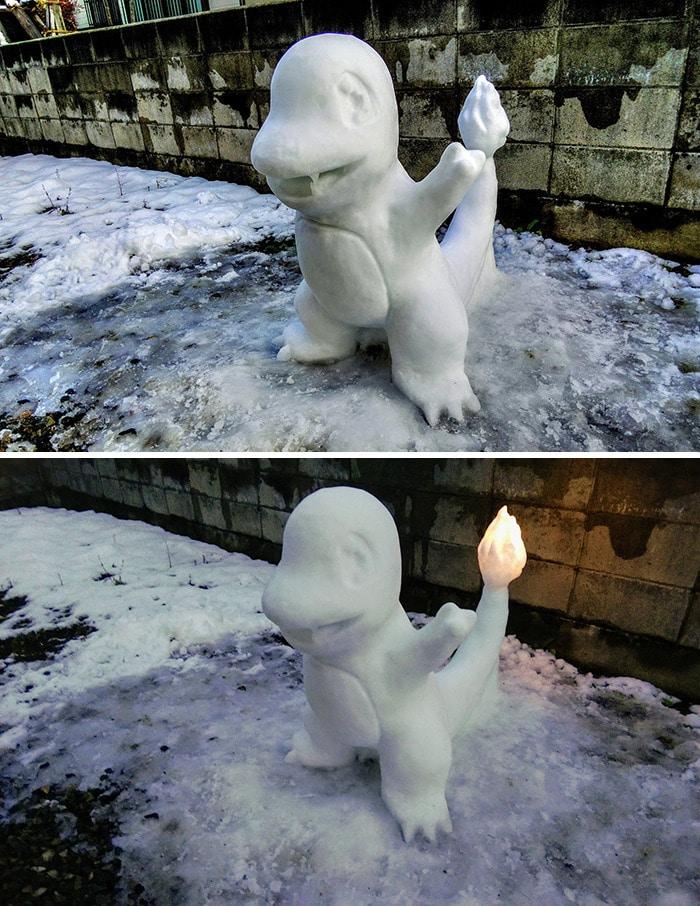 Usuário do Twitter cria esculturas de neve fascinantes e aqui estão 30 das mais legais 25