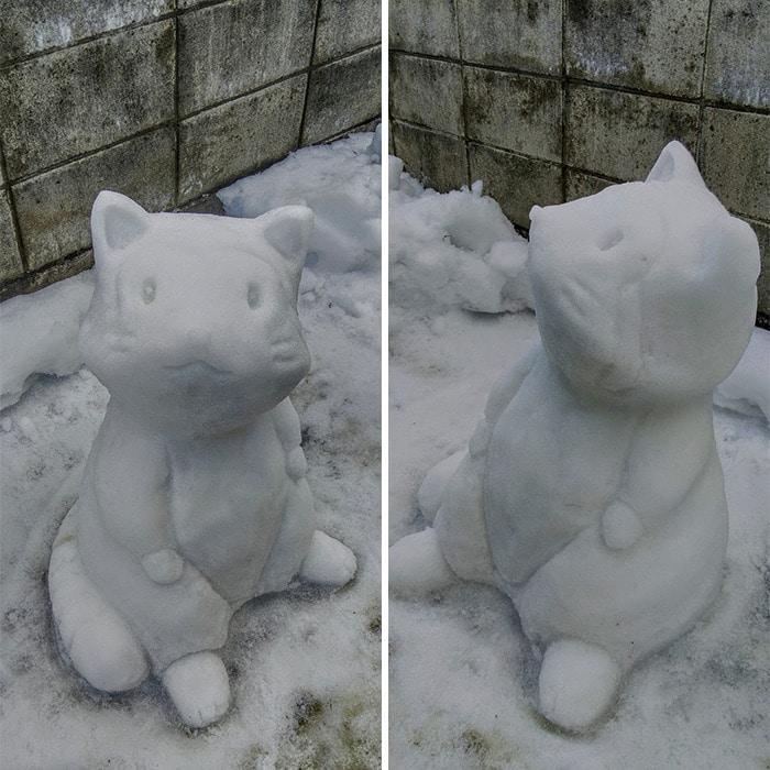 Usuário do Twitter cria esculturas de neve fascinantes e aqui estão 30 das mais legais 26