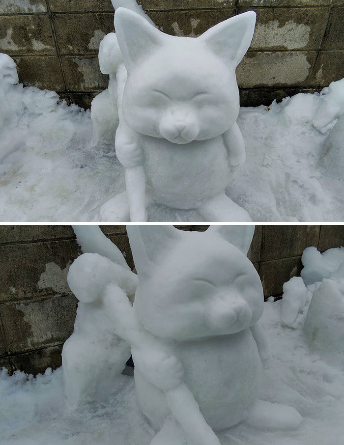 Usuário do Twitter cria esculturas de neve fascinantes e aqui estão 30 das mais legais 27