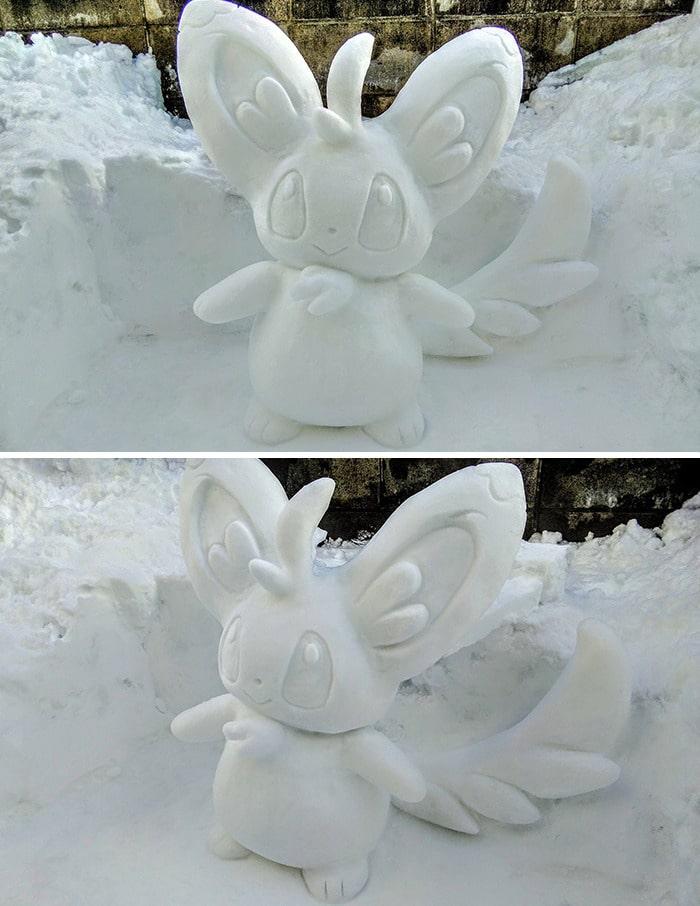 Usuário do Twitter cria esculturas de neve fascinantes e aqui estão 30 das mais legais 29