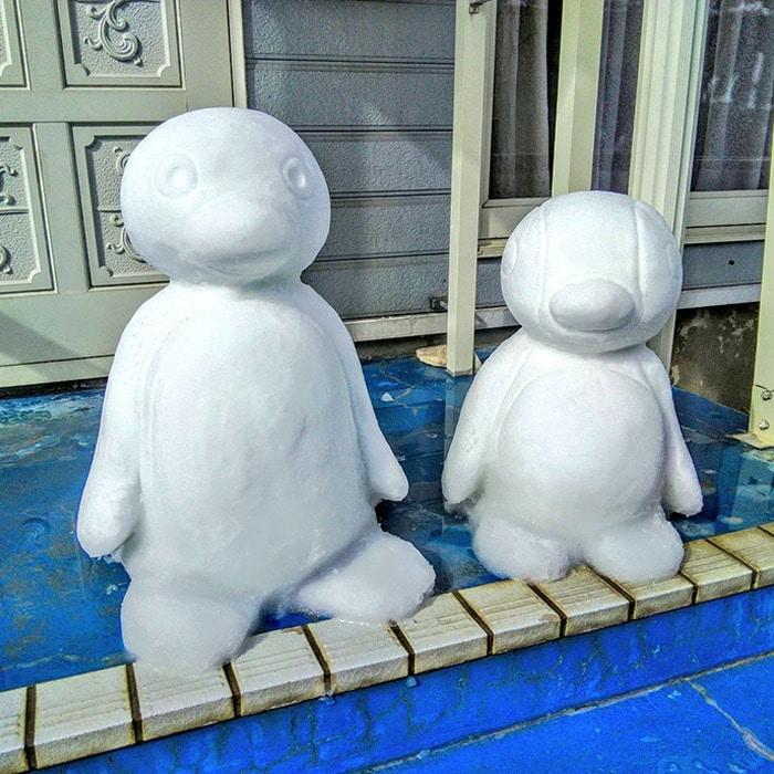 Usuário do Twitter cria esculturas de neve fascinantes e aqui estão 30 das mais legais 30