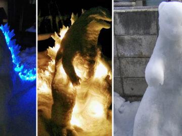 Usuário do Twitter cria esculturas de neve fascinantes e aqui estão 30 das mais legais 41