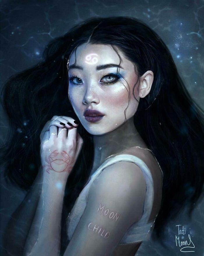 Artista imagina como seriam os signos, planetas e elementos do zodíaco chinês como pessoas 5