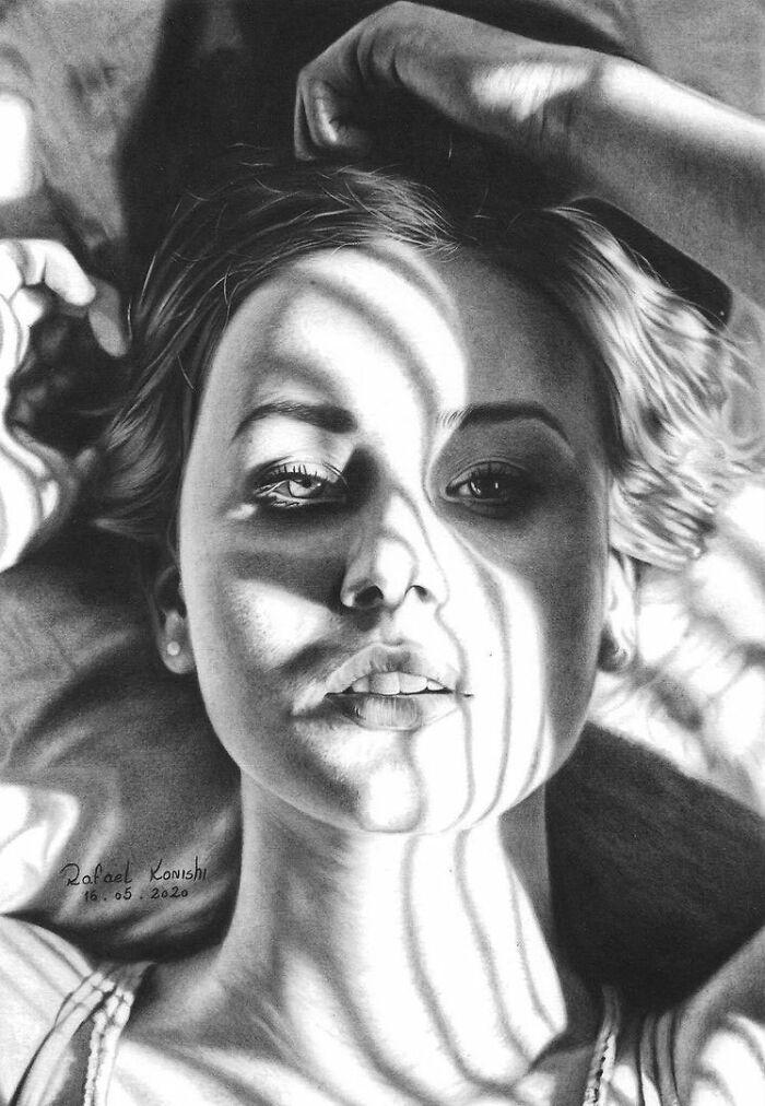 35 desenhos a lápis hiper-realistas por Rafael Konishi 5