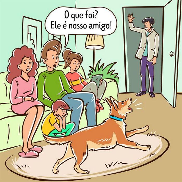 Por que o cachorro late para algumas pessoas e outras não? 6