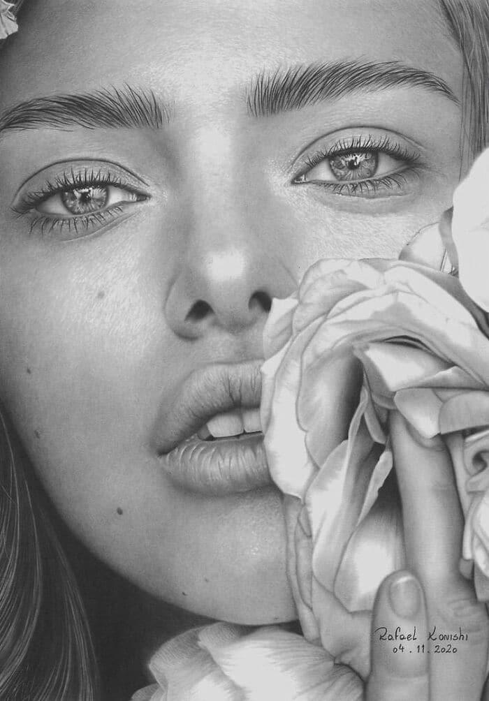 35 desenhos a lápis hiper-realistas por Rafael Konishi 10
