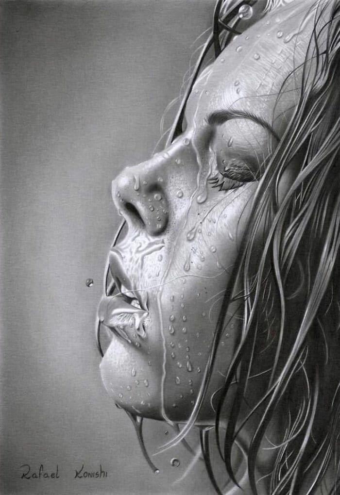 35 desenhos a lápis hiper-realistas por Rafael Konishi 16