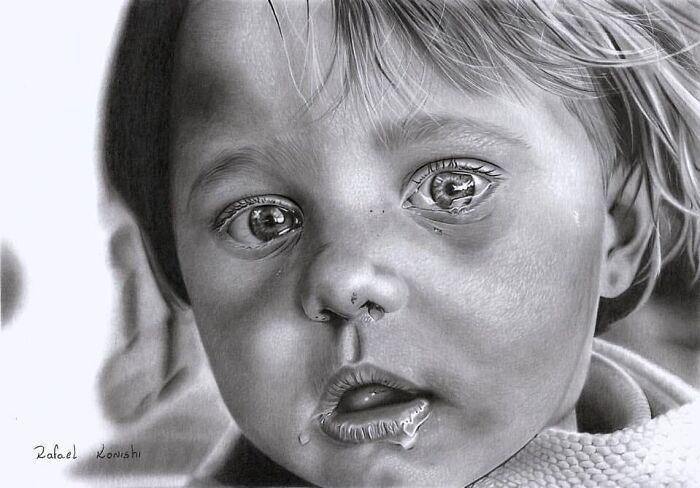 35 desenhos a lápis hiper-realistas por Rafael Konishi 33