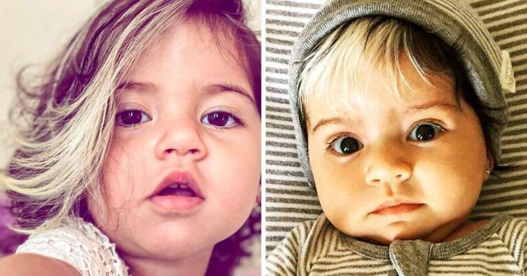 A bebê que nasceu com cabelo grisalhos é a prova de que nossos defeitos nos tornam mais bonitos 1