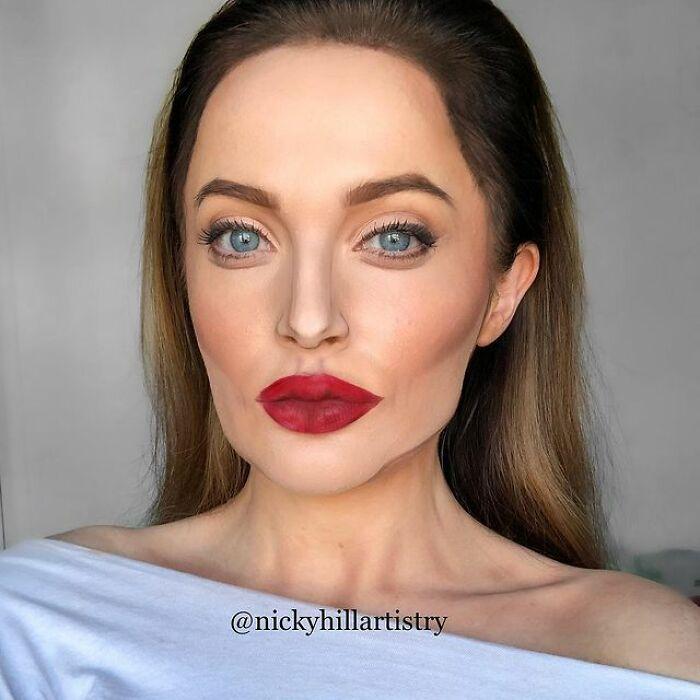 Artista de maquiagem se transforma em qualquer celebridade ou ilusão de ótica que ela deseja 7
