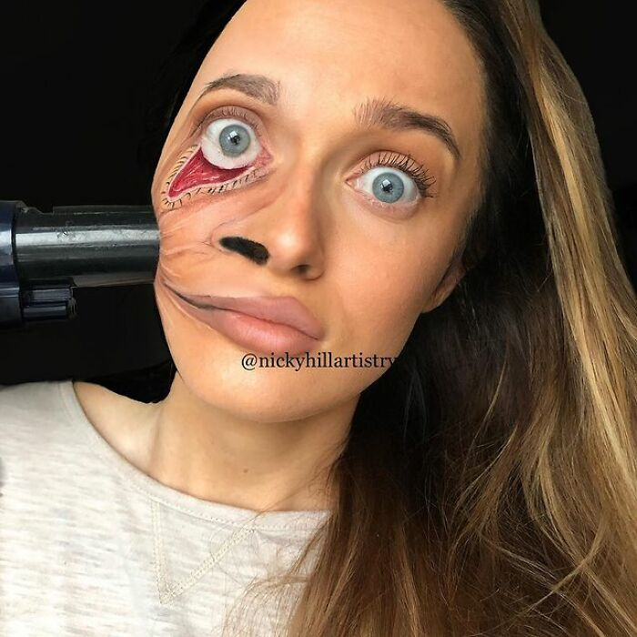 Artista de maquiagem se transforma em qualquer celebridade ou ilusão de ótica que ela deseja 12
