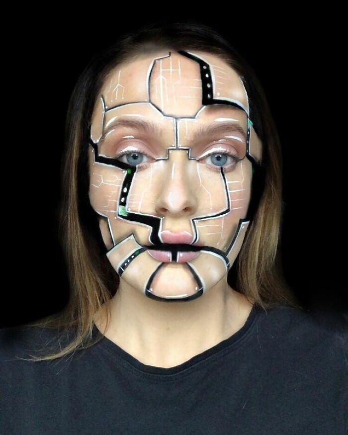 Artista de maquiagem se transforma em qualquer celebridade ou ilusão de ótica que ela deseja 18