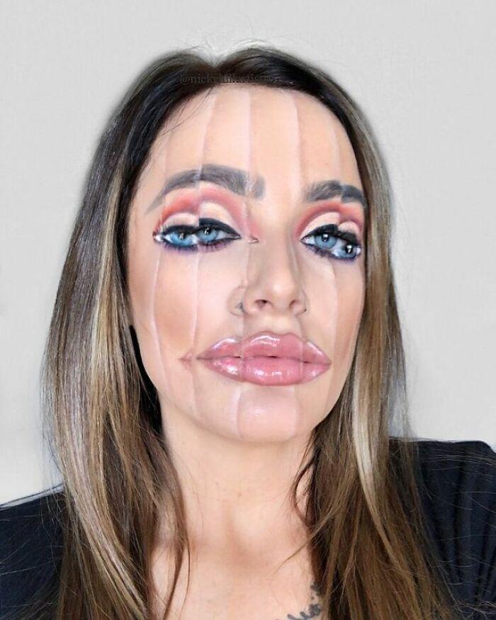 Artista de maquiagem se transforma em qualquer celebridade ou ilusão de ótica que ela deseja 25