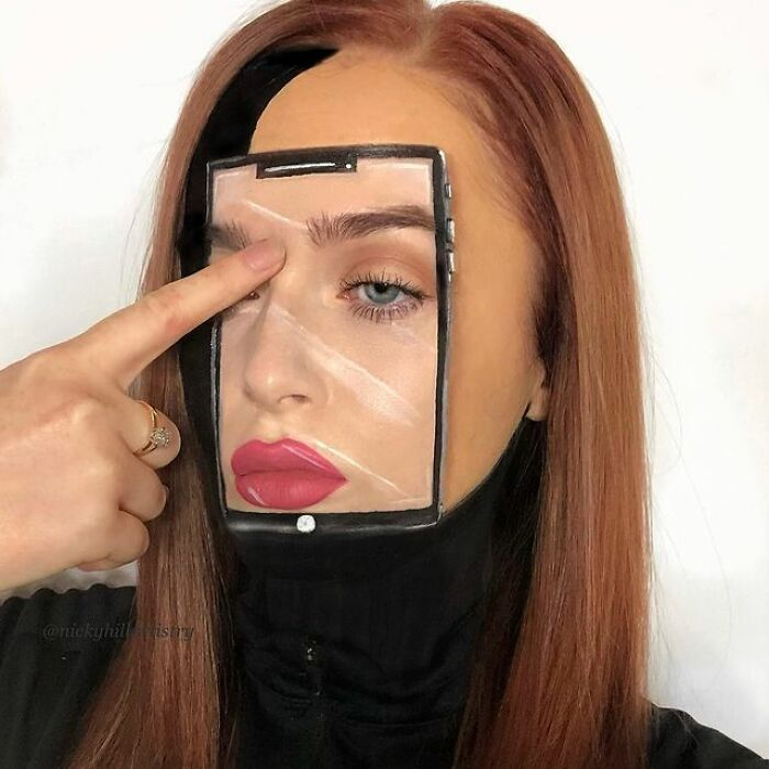 Artista de maquiagem se transforma em qualquer celebridade ou ilusão de ótica que ela deseja 30
