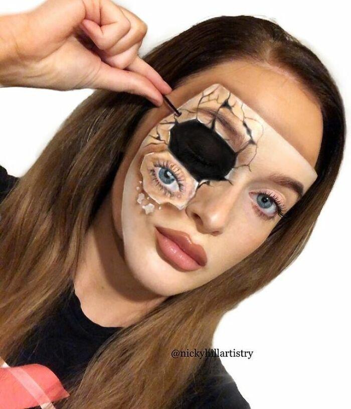 Artista de maquiagem se transforma em qualquer celebridade ou ilusão de ótica que ela deseja 34