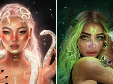 Artista imagina como seriam os signos, planetas e elementos do zodíaco chinês como pessoas 6