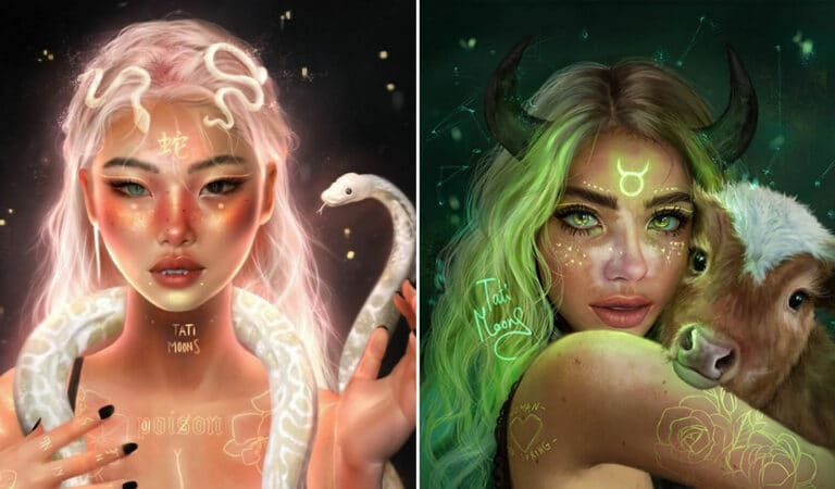 Artista imagina como seriam os signos, planetas e elementos do zodíaco chinês como pessoas 1