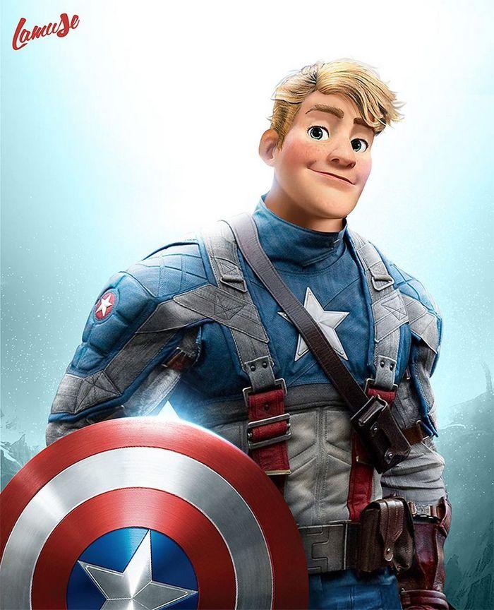 Artista imaginou personagens da Disney como super-heróis 5