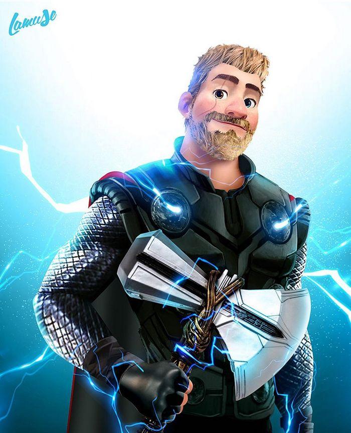 Artista imaginou personagens da Disney como super-heróis 11