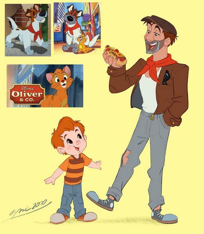 Artista recria personagens da Disney como se fossem humanos e os humanos como animais 5