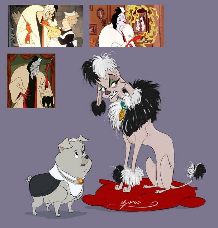 Artista recria personagens da Disney como se fossem humanos e os humanos como animais 6