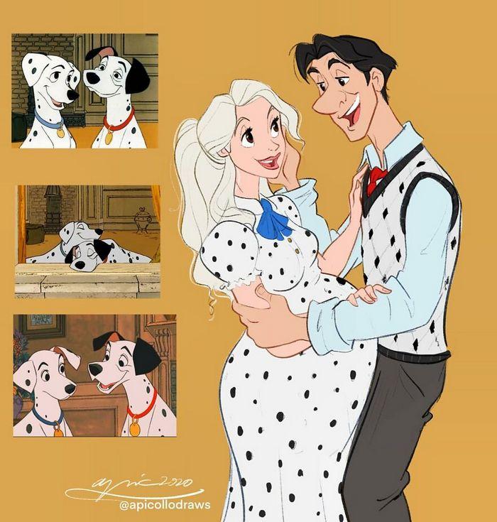 Artista recria personagens da Disney como se fossem humanos e os humanos como animais 8
