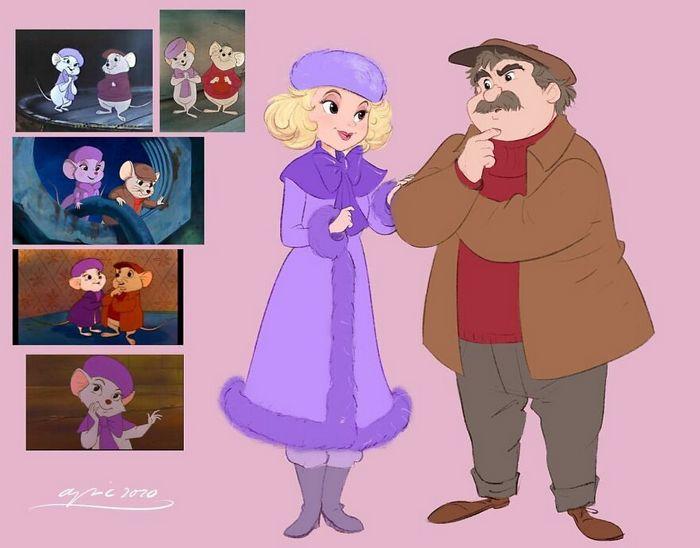 Artista recria personagens da Disney como se fossem humanos e os humanos como animais 9