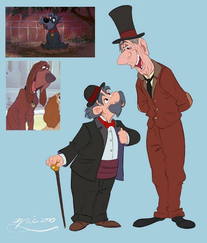 Artista recria personagens da Disney como se fossem humanos e os humanos como animais 11