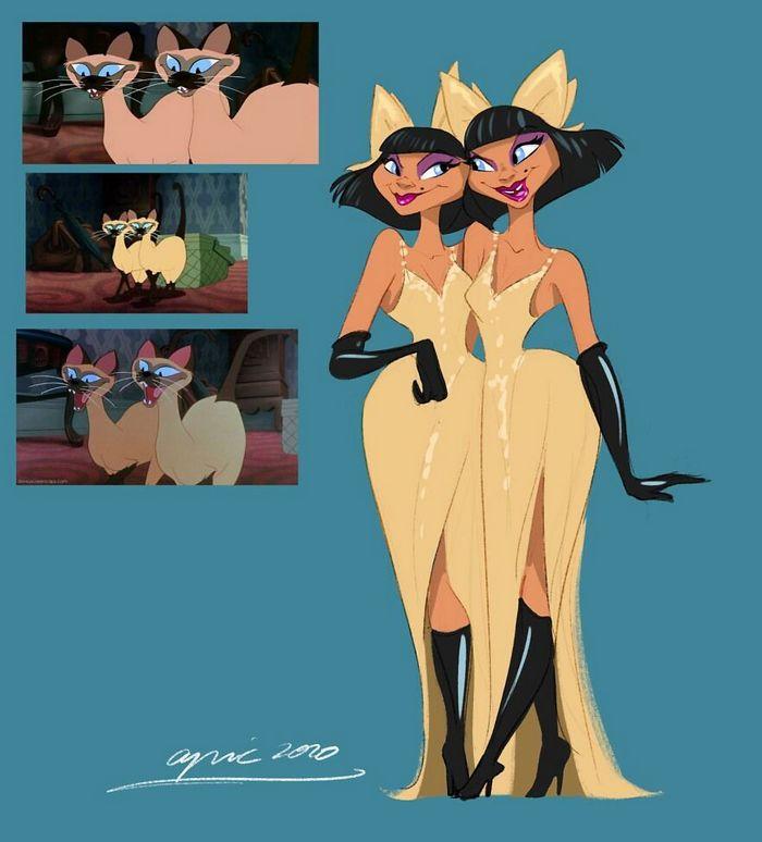 Artista recria personagens da Disney como se fossem humanos e os humanos como animais 14