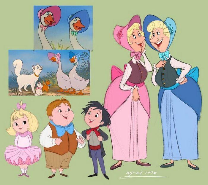 Artista recria personagens da Disney como se fossem humanos e os humanos como animais 18