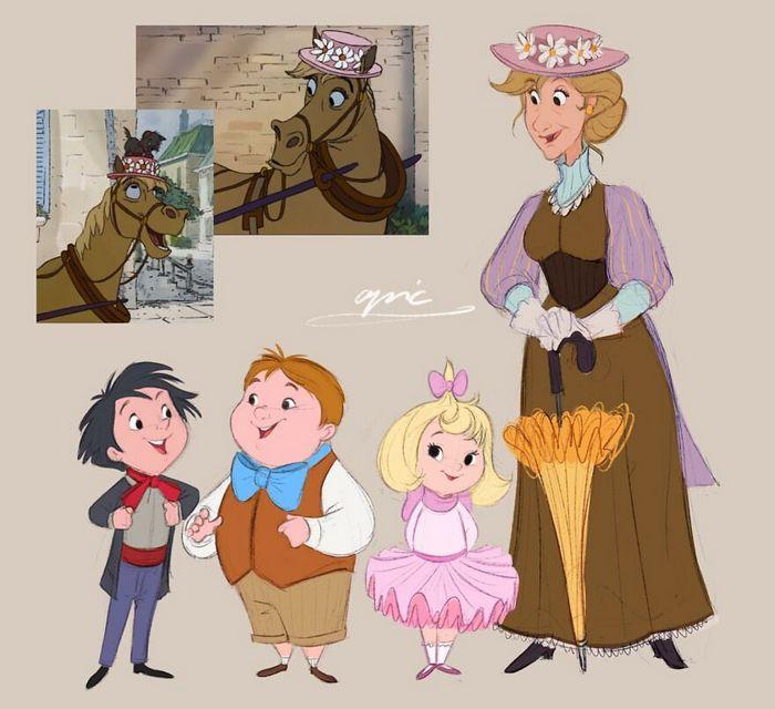 Artista recria personagens da Disney como se fossem humanos e os humanos como animais 21