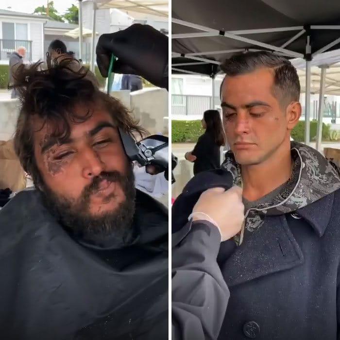 Barbeiro transforma pessoas sem-teto de graça e essas 30 fotos de antes e depois 2