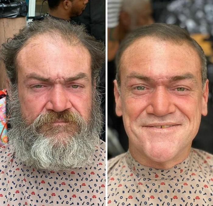Barbeiro transforma pessoas sem-teto de graça e essas 30 fotos de antes e depois 3