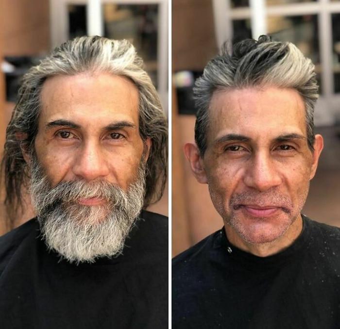 Barbeiro transforma pessoas sem-teto de graça e essas 30 fotos de antes e depois 5