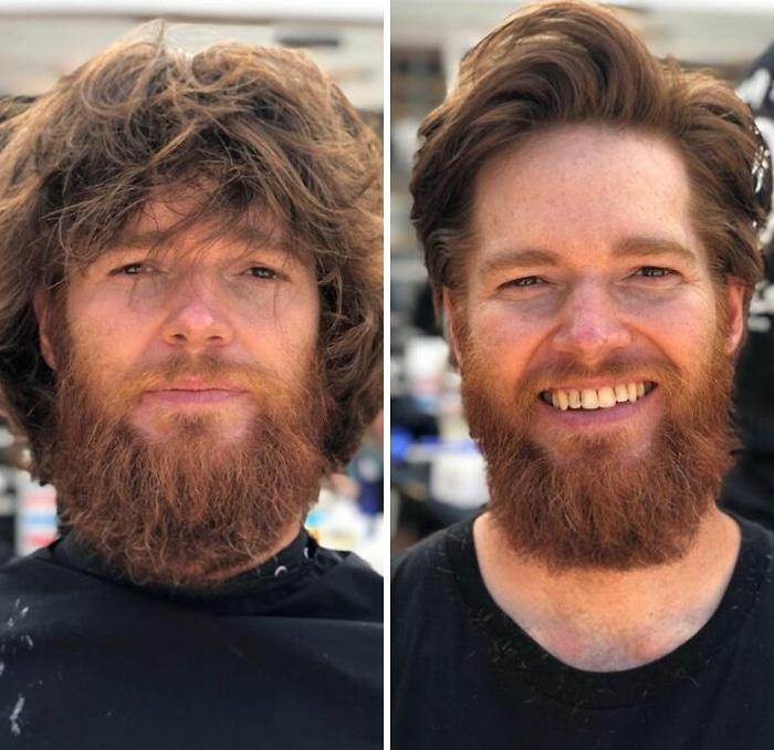 Barbeiro transforma pessoas sem-teto de graça e essas 30 fotos de antes e depois 6