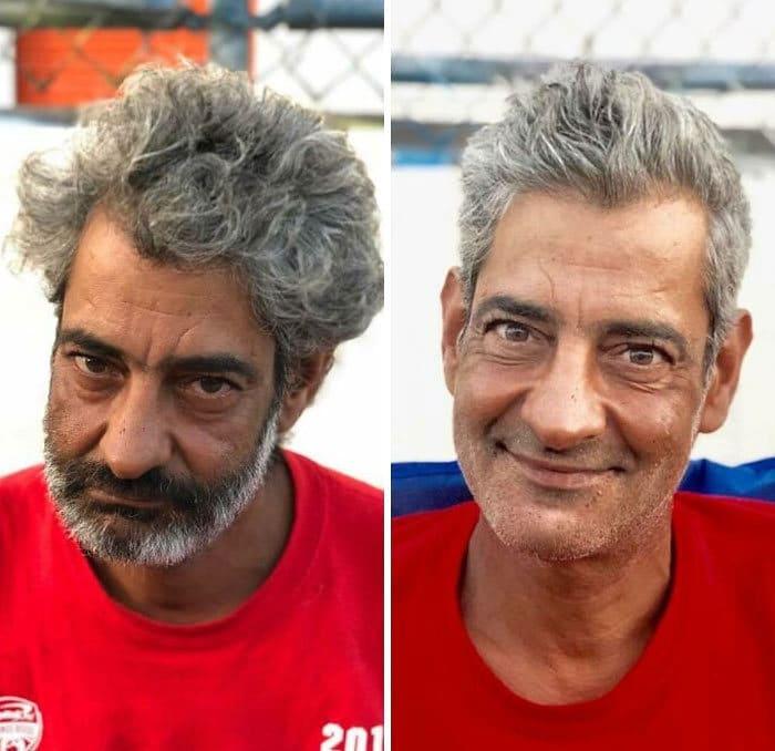 Barbeiro transforma pessoas sem-teto de graça e essas 30 fotos de antes e depois 8
