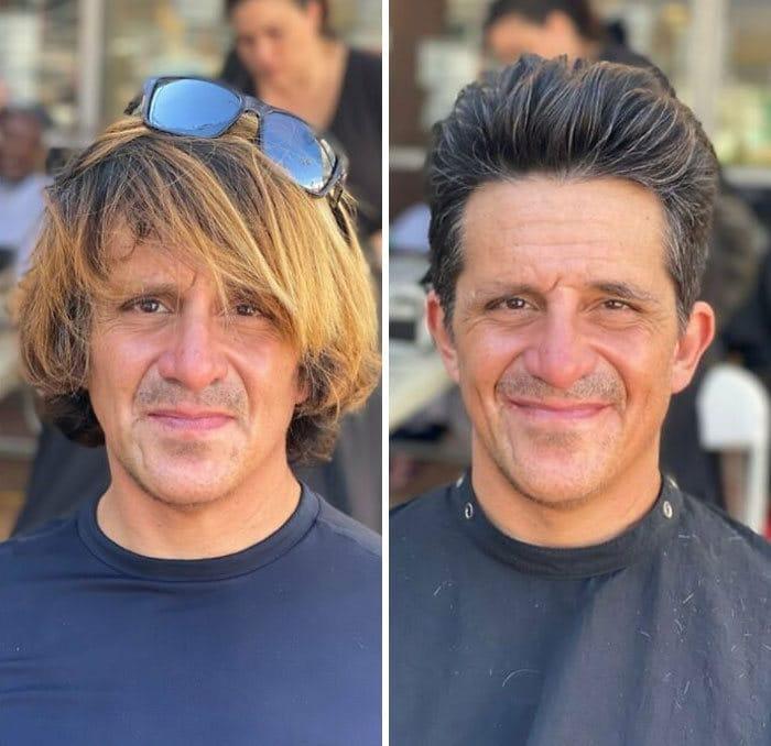 Barbeiro transforma pessoas sem-teto de graça e essas 30 fotos de antes e depois 9
