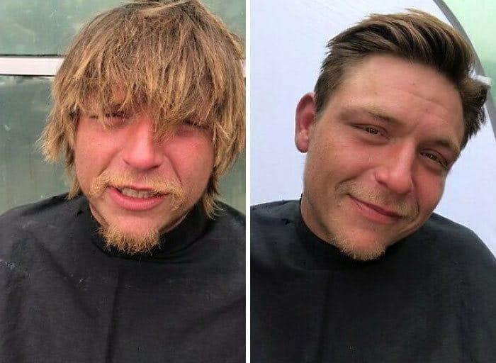 Barbeiro transforma pessoas sem-teto de graça e essas 30 fotos de antes e depois 10