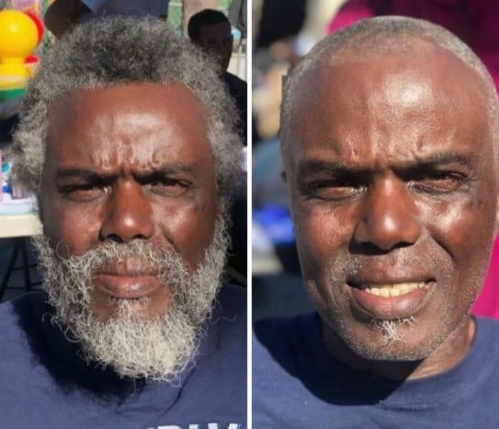Barbeiro transforma pessoas sem-teto de graça e essas 30 fotos de antes e depois 12