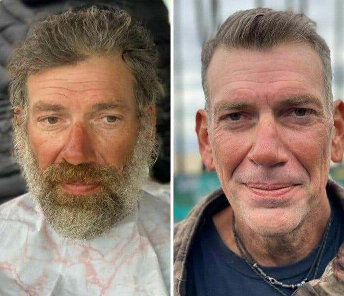 Barbeiro transforma pessoas sem-teto de graça e essas 30 fotos de antes e depois 13