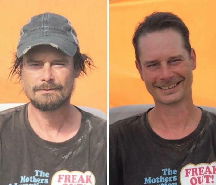 Barbeiro transforma pessoas sem-teto de graça e essas 30 fotos de antes e depois 14