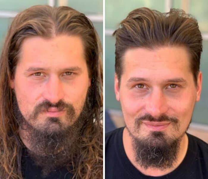Barbeiro transforma pessoas sem-teto de graça e essas 30 fotos de antes e depois 16